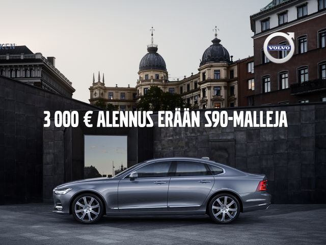 Erä Volvo S90 -malleja 3 000 €:n alennuksella