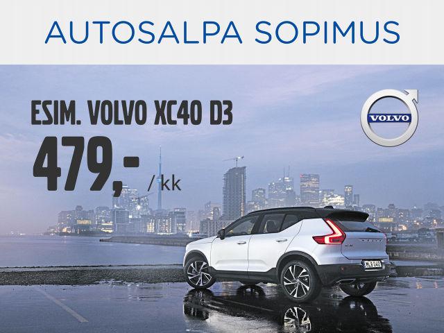 Volvo XC40 Autosalpa Sopimuksella 479 € /kk