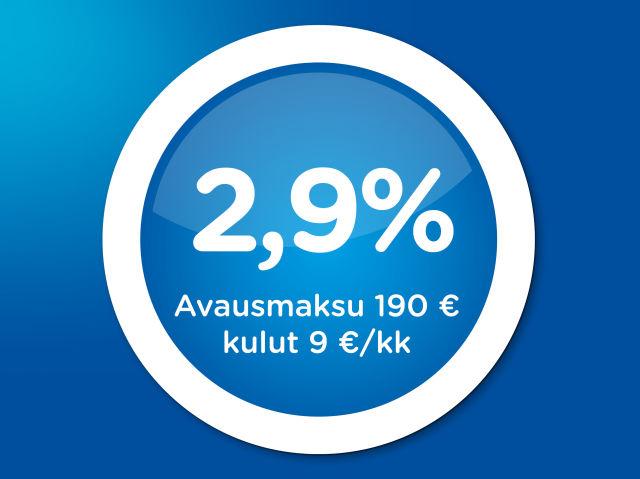 Käytettyjen autojen rahoitus 2,9 %:n korolla