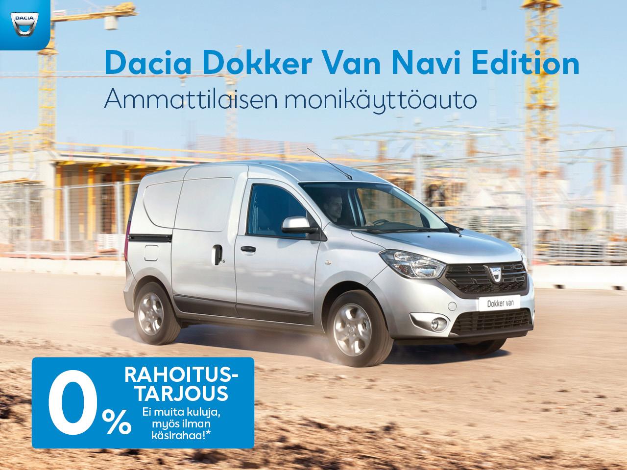 0 % korko koko Dacia tavara-automallistoon!