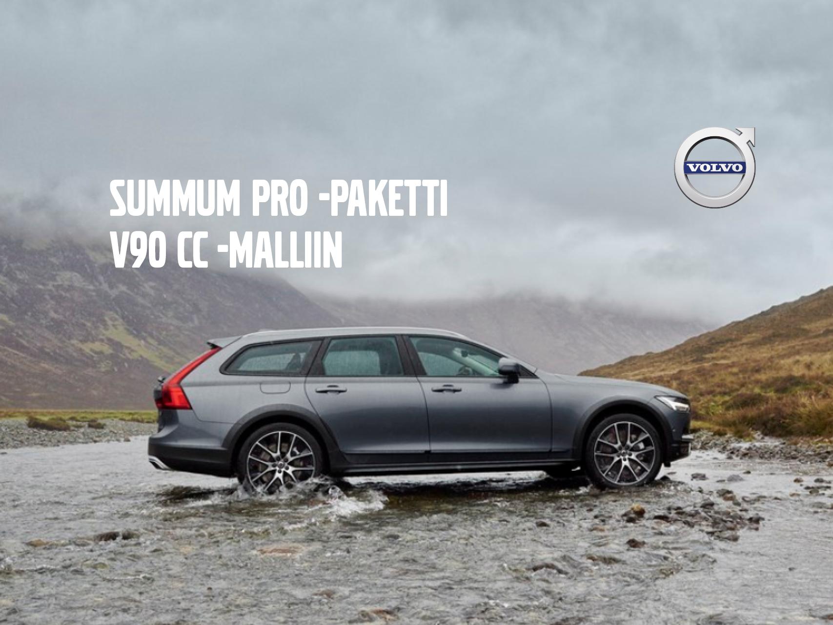V90 CC: Summum Pro -paketti 1.850 €