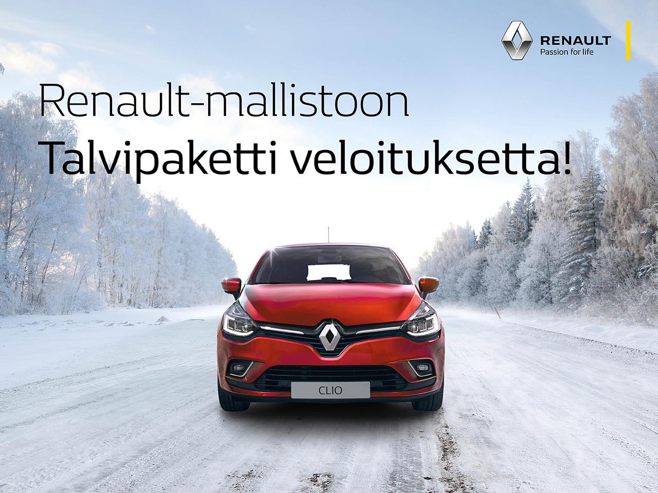 Renault-mallistoon talvipaketti veloituksetta!