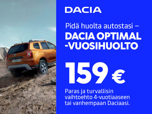 Dacia Optimal -huoltohinta
