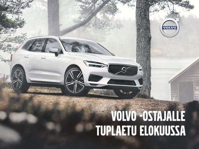 Volvon ostajalle elokuussa huikea tuplaetu