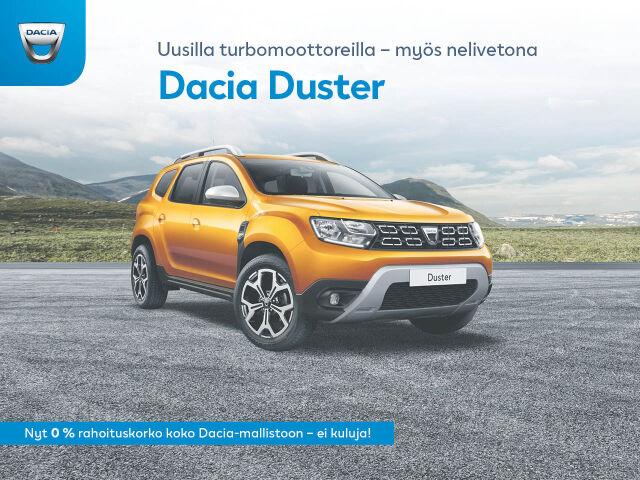Nyt 0 % rahoitus koko Dacia-mallistoon!