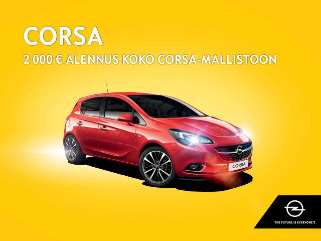 2 000 € alennus koko Opel Corsa -mallistoon!