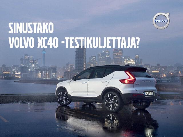 Hae Volvo XC40 -testikuljettajaksi!