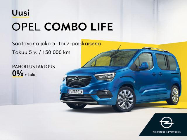 UUSI Opel Combo Life Autosalvasta