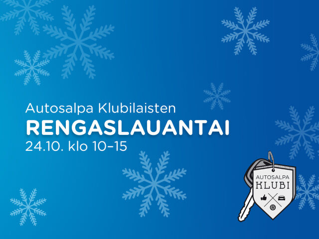 Autosalpa Klubilaisten Rengaslauantai 24.10.
