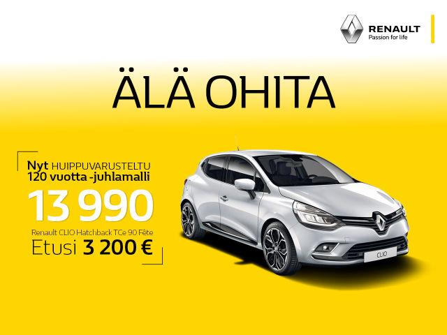 Renault Clio: huippuvarusteltu 120 vuotta -juhlamalli!