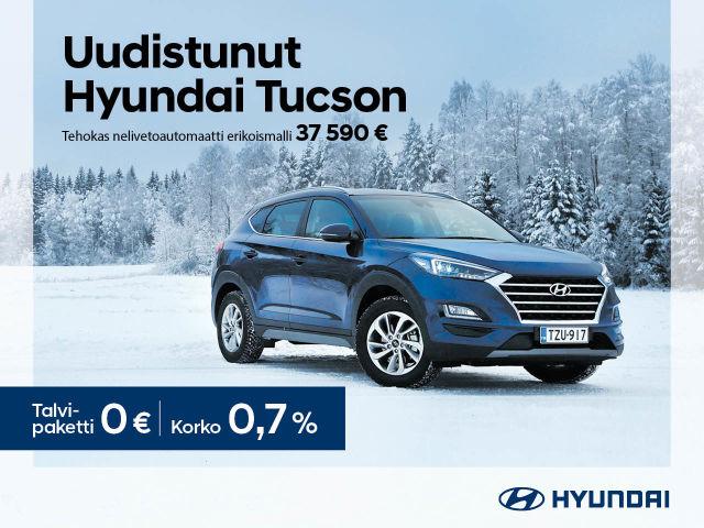 Uudistunut Hyundai Tucson nyt erikoishintaan