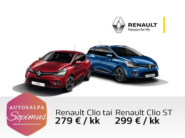 Renault Clio tasaerin Autosalpa Sopimuksella