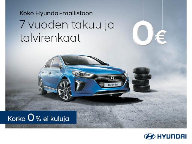 Talvirenkaat veloituksetta koko Hyundai-mallistoon