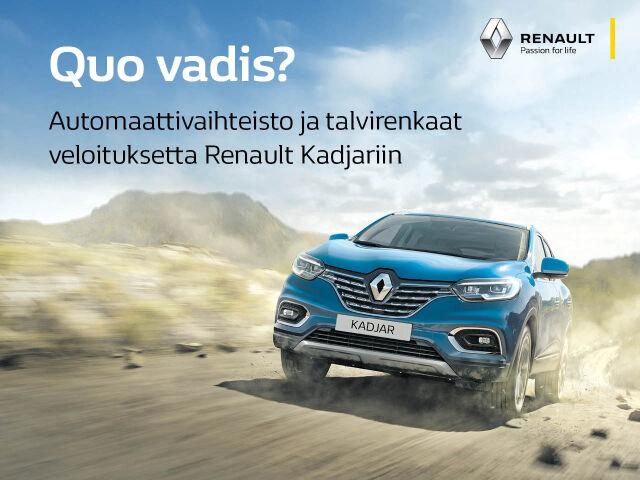 Tyylikäs Renault Kadjar nyt huippueduin!