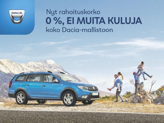 Rahoitus 0 % Dacia-mallistoon