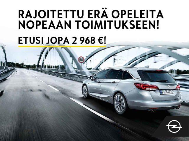 Erä huippuvarusteltuja Opeleita heti varastosta etuhintaan! Etusi jopa 2 968 €!