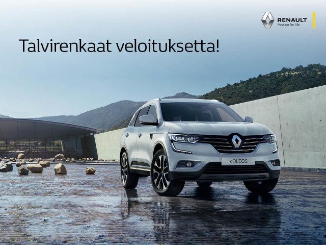 Talvirenkaat veloituksetta moniin Renault-malleihin