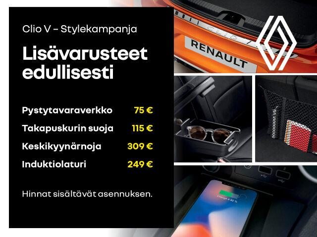 Lisävarusteet Clio V -malliin