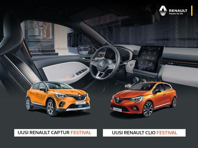 Uudet Renault Clio Festival ja Captur Festival