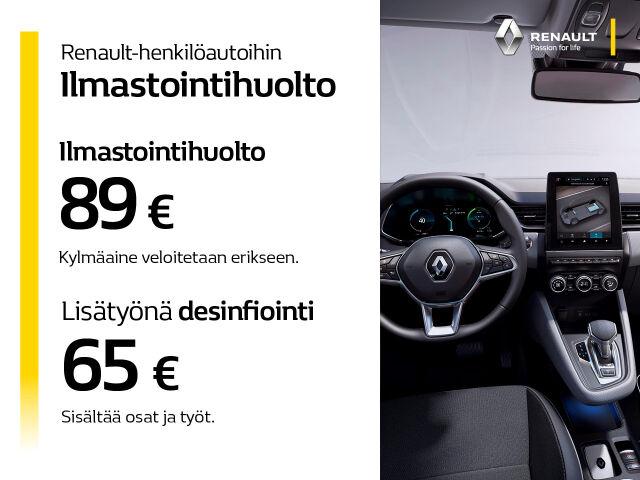 Ilmastointihuolto 89 € Renault-ajoneuvoihin