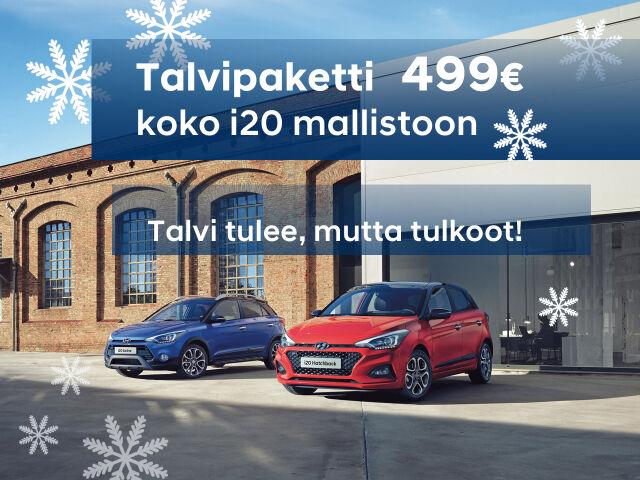 Hyundai i20 -mallistoon talvipaketti 499€