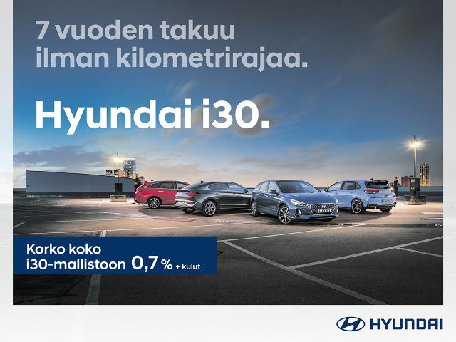 Hyundai i30: 7 vuoden takuu ilman kilometrirajaa