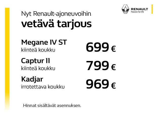 Vetokoukut Renault-ajoneuvoihin