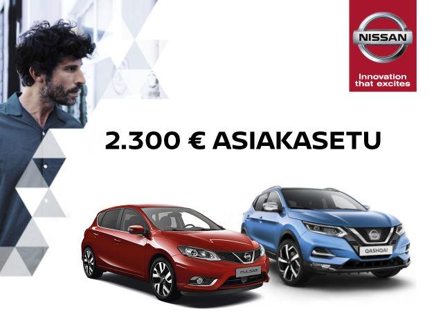 2.300 € asiakasetu Nissaniin