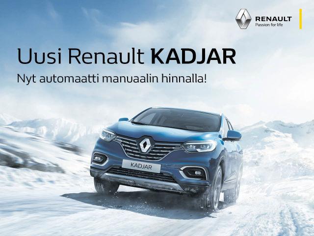 Uusi Renault Kadjar - automaatti manuaalin hinnalla