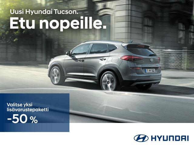 Hyundai Tucsonin tai i30:n ostajalle varustepaketti -50 %