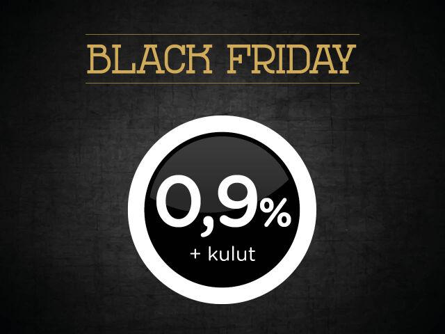 BLACK FRIDAY: Rahoitus 0,9 % + kulut