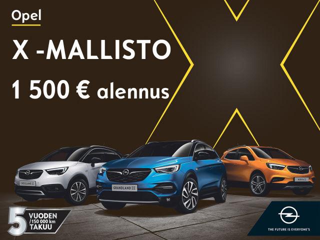 Koko Opel X -mallistoon nyt 1 500€ alennus!