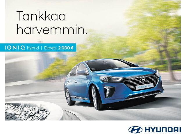 Hyundai IONIQ hybrid ja IONIQ plug-in -mallistoon 2 000 € ekoetu