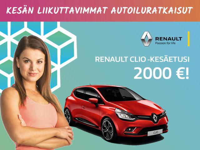 Renault Clio - kesäetusi 2 000 €