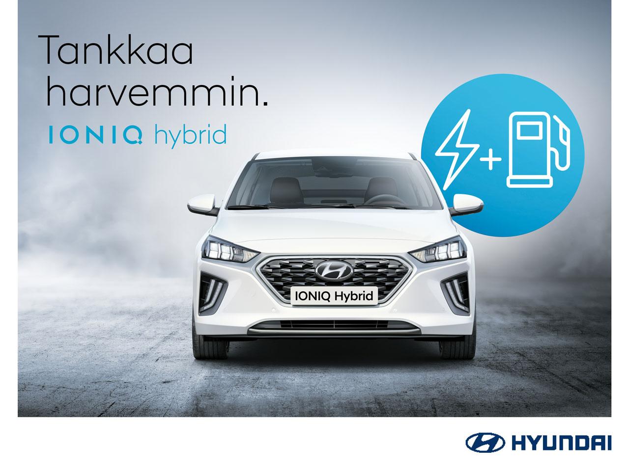 Erikoishinnoiteltu Hyundai Ioniq hybrid + talvirenkaat 499 €