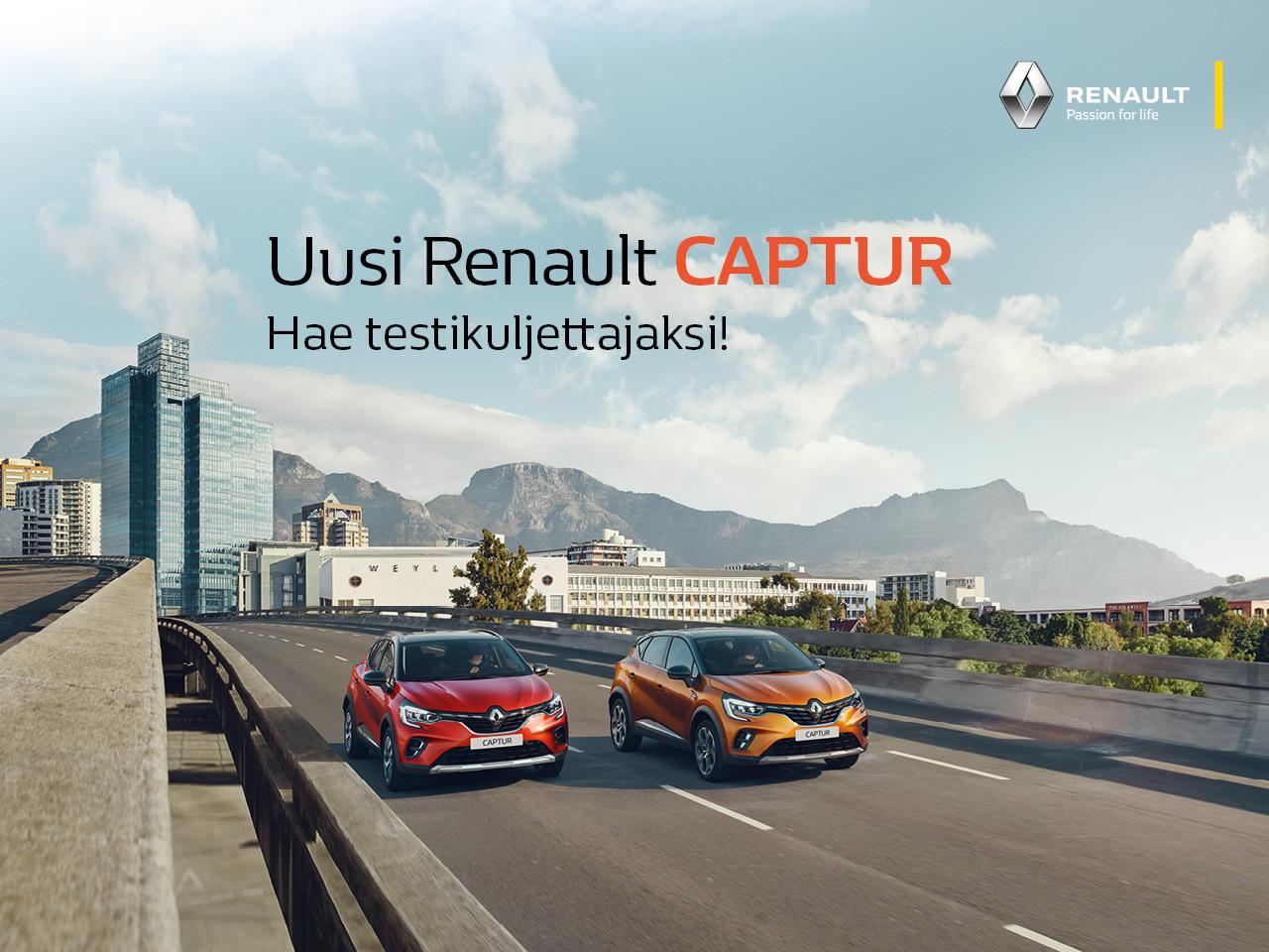 Hae Renault Captur -testikuljettajaksi