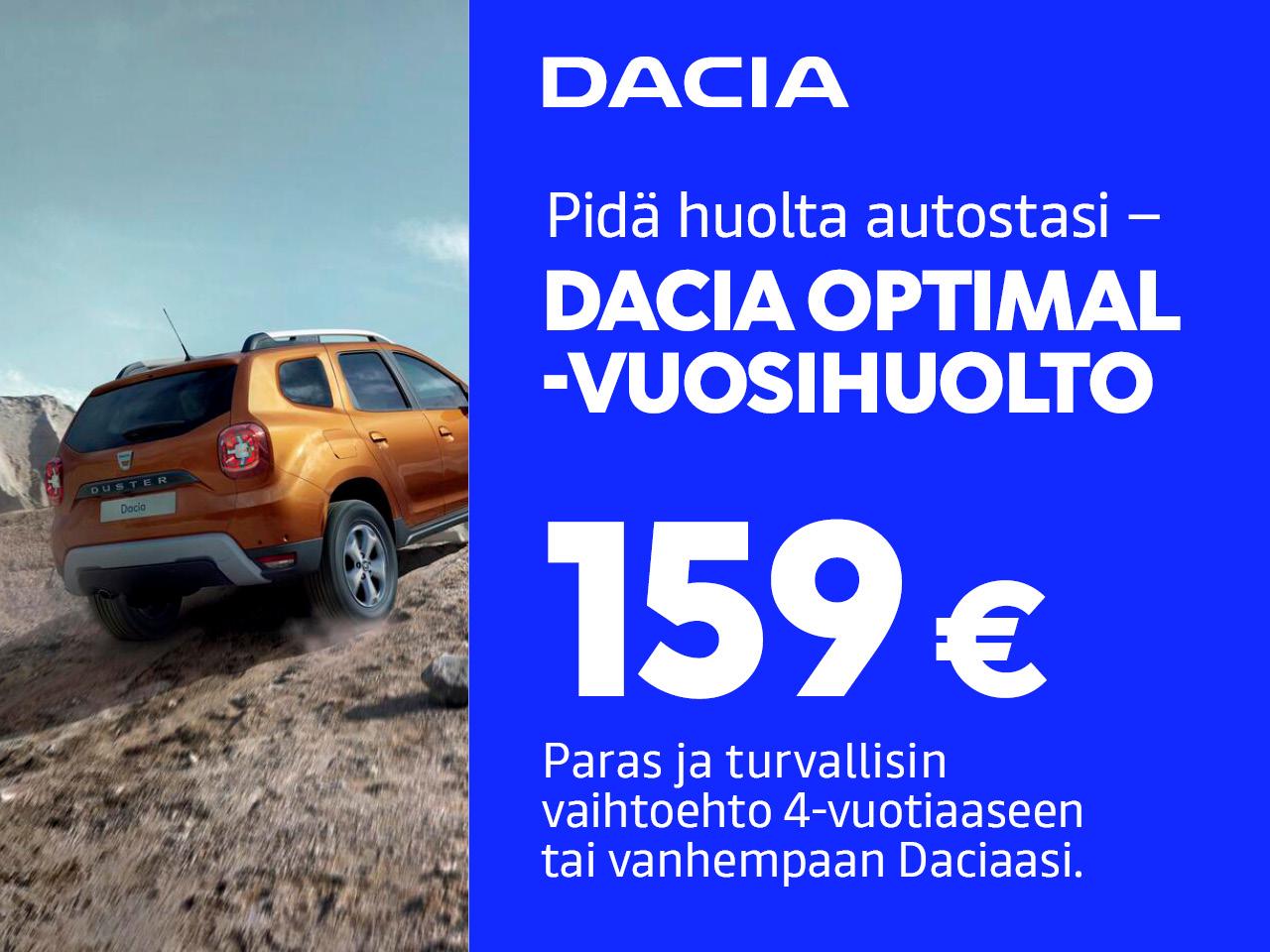 Dacia Optimal -huoltohinta