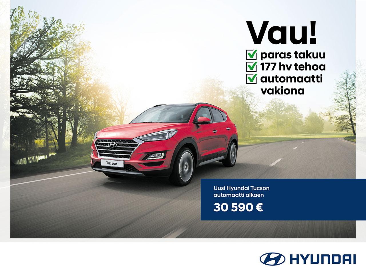 Hyundai Tucson: Tehdas Packit -50%