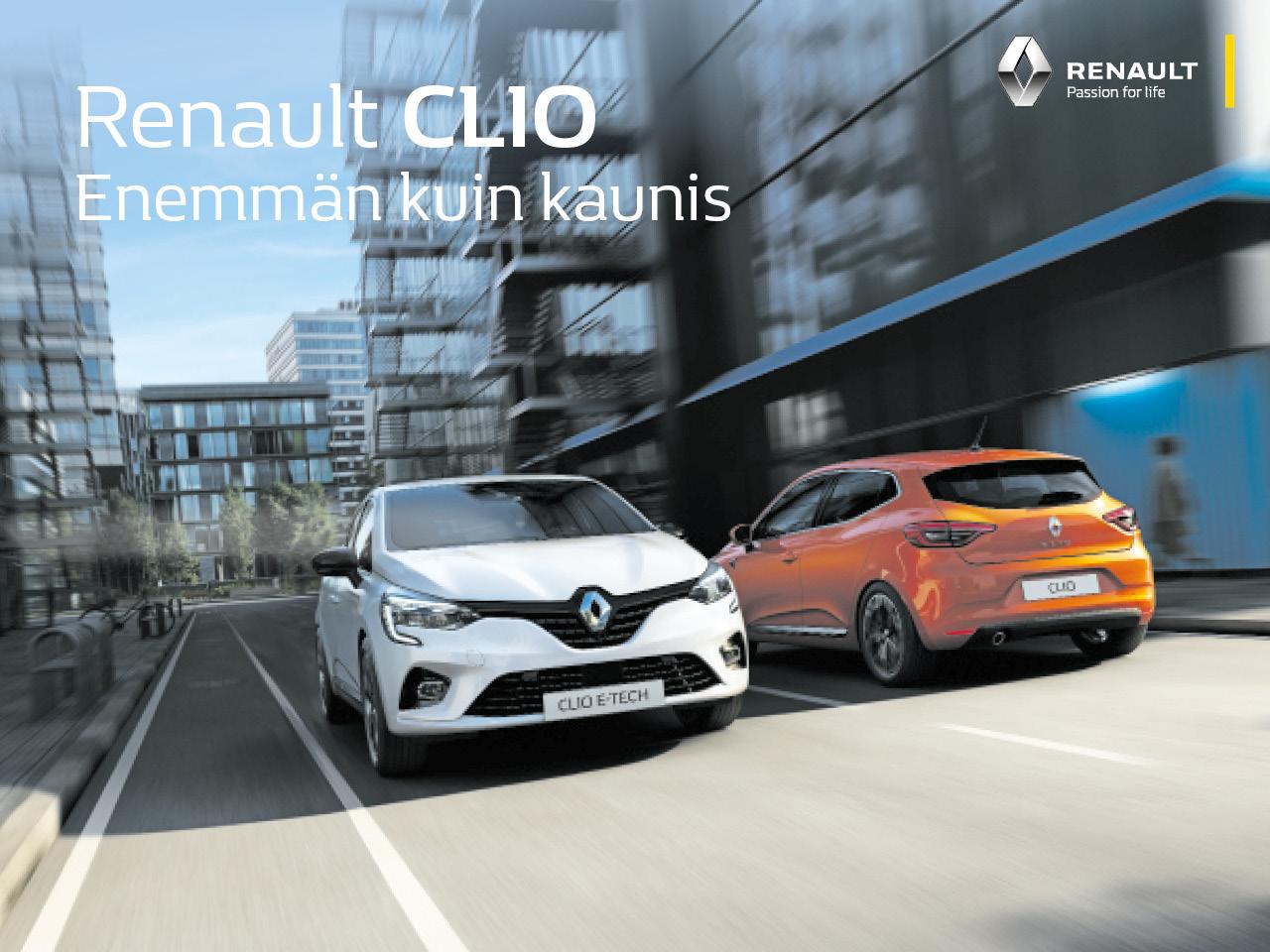 Erä autoja edullisesti: Renault Clio TCe 100 Intens