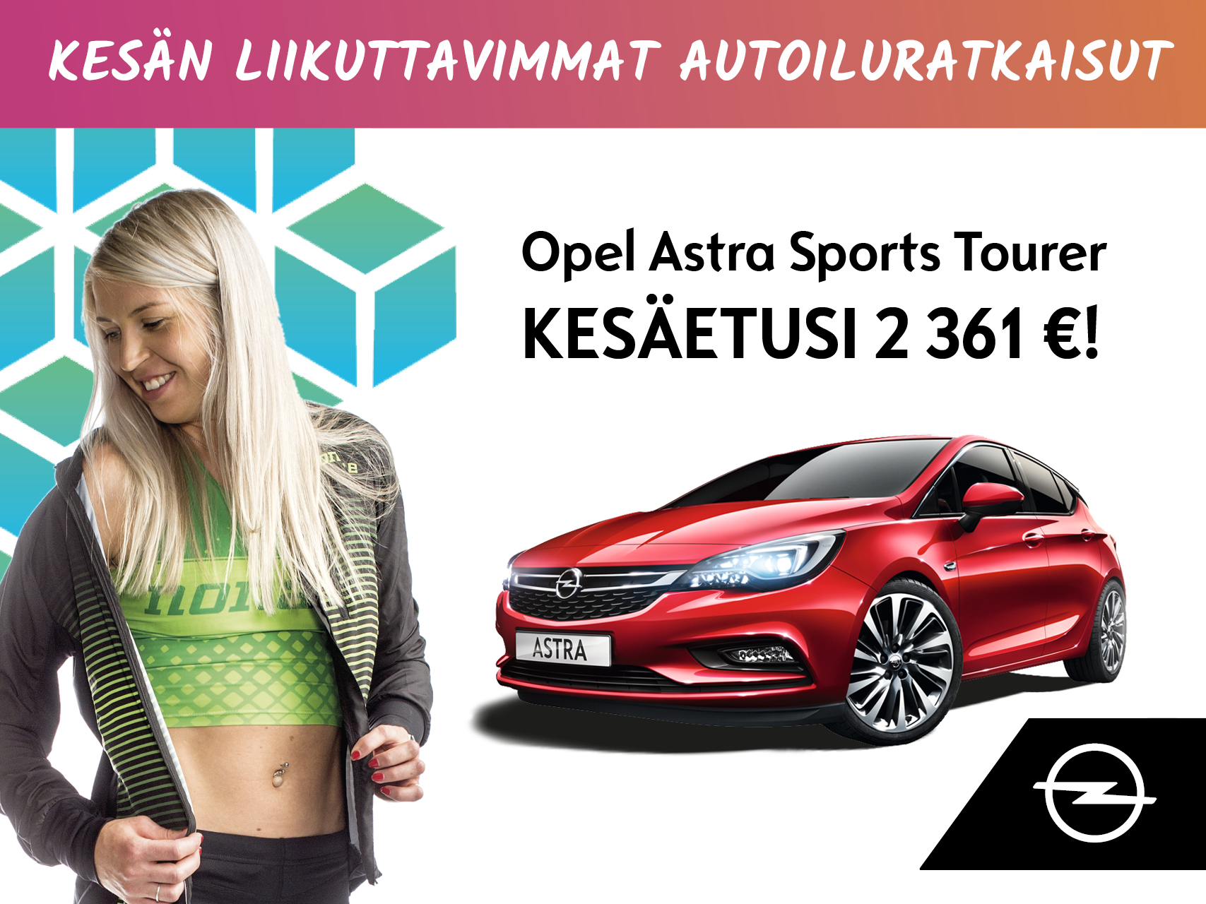 Opel Astra ST -kesäetusi 2 361 €