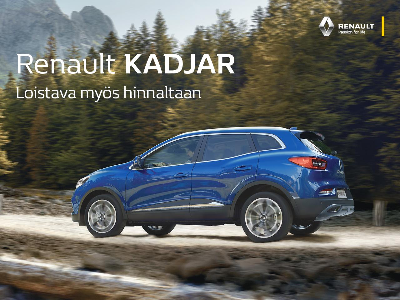 Renault Kadjar - loistava myös hinnaltaan