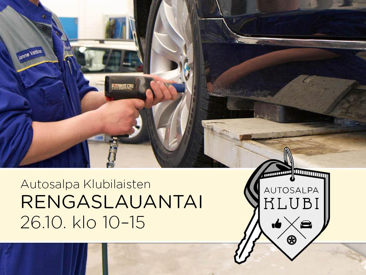 Autosalpa Klubilaisten RENGASLAUANTAI 26.10.