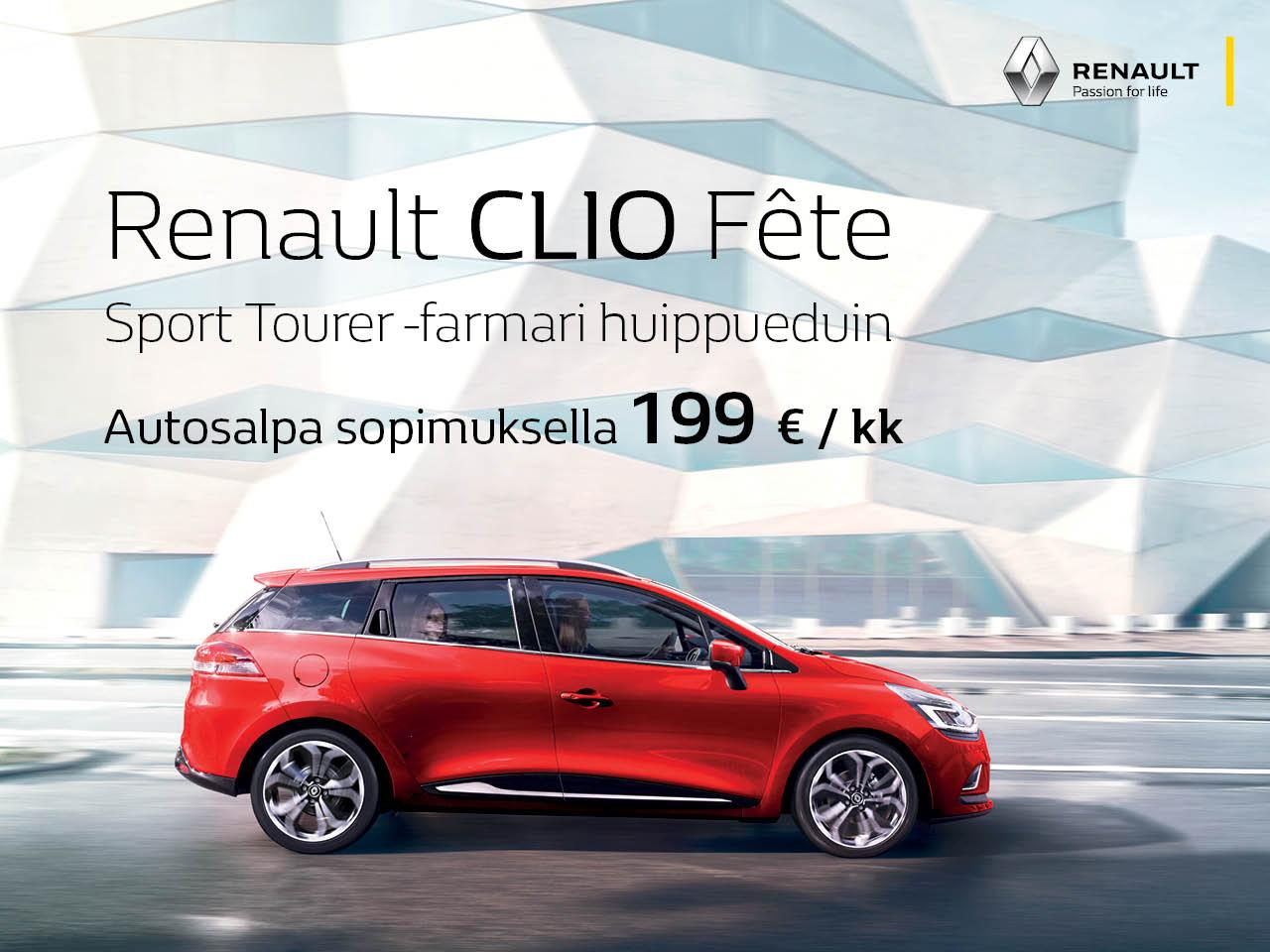 Renault Clio Fête ST huippueduin