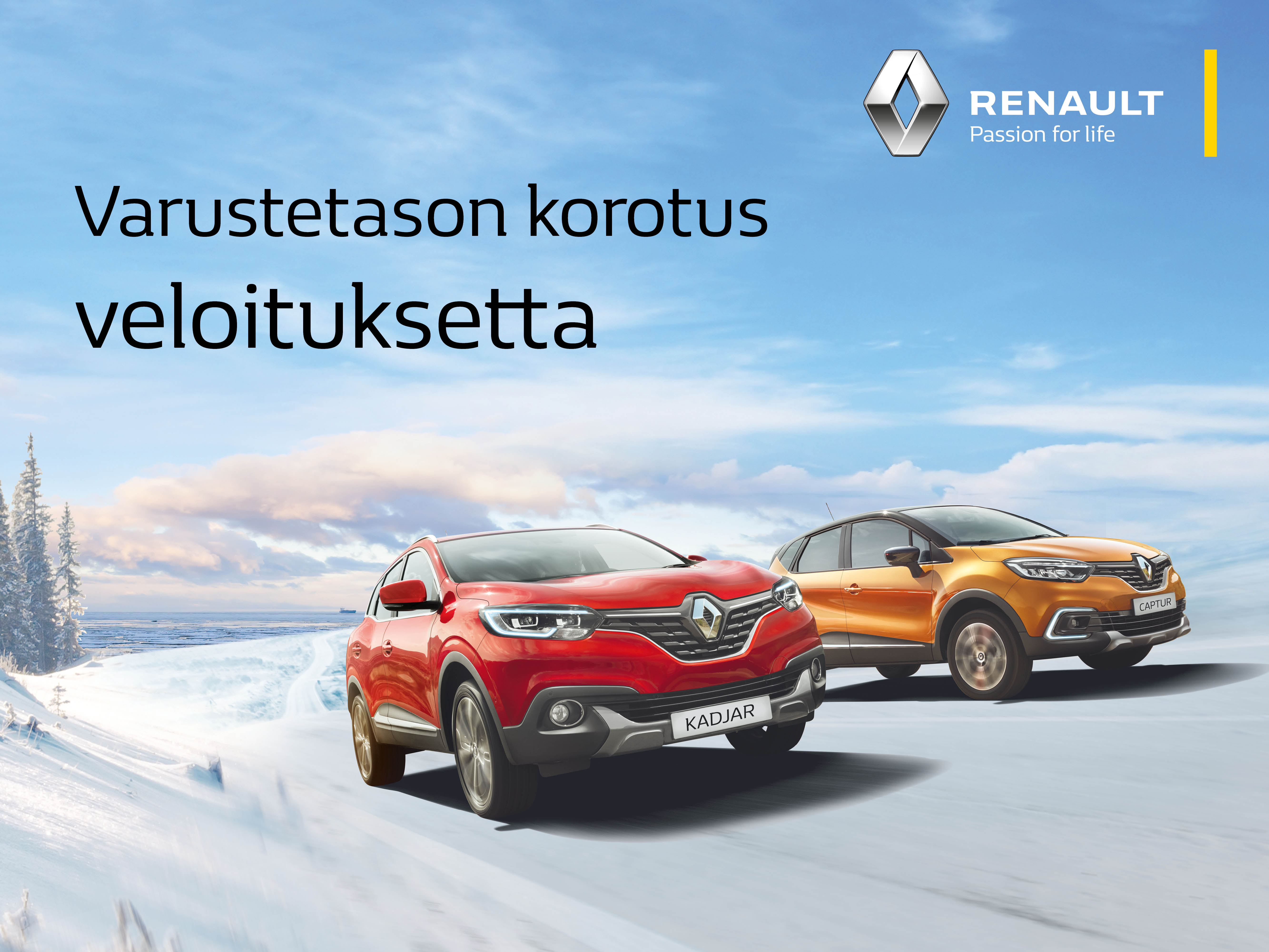 Renaultin ostajalle varustetason korotus veloituksetta