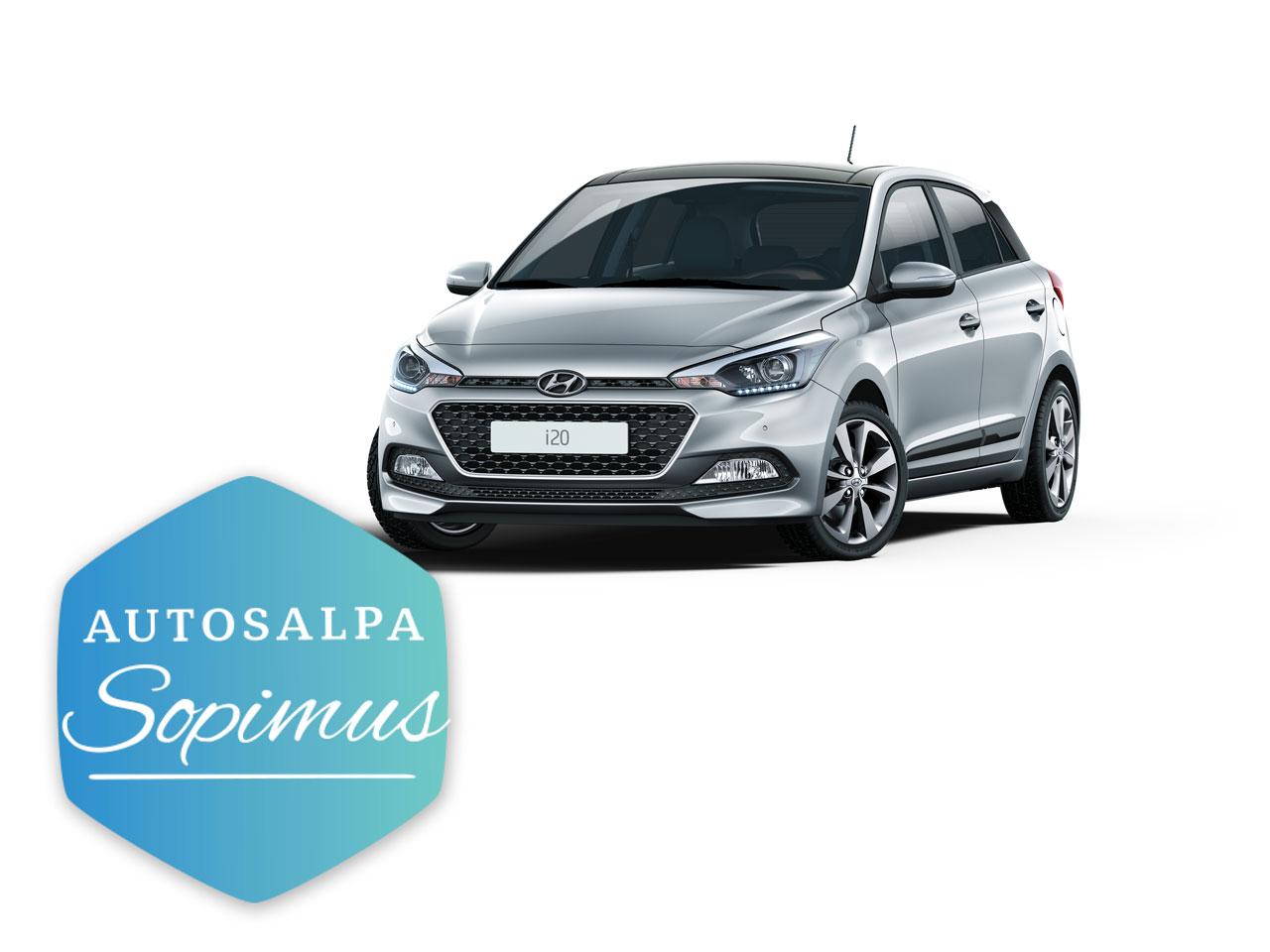 Hyundai i20 Hatchback automaatti esim. 229 € / kk