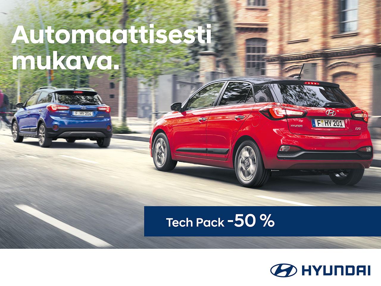 Hyundai i20: Tech Pack puoleen hintaan