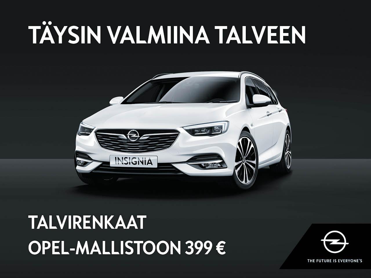 Talvirenkaat koko Opel-mallistoon 399 €