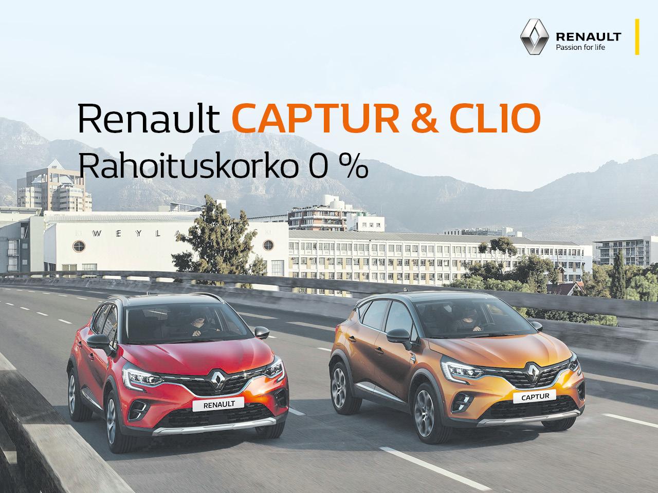 Erä Renault Clio- ja Captur -varastoautoja