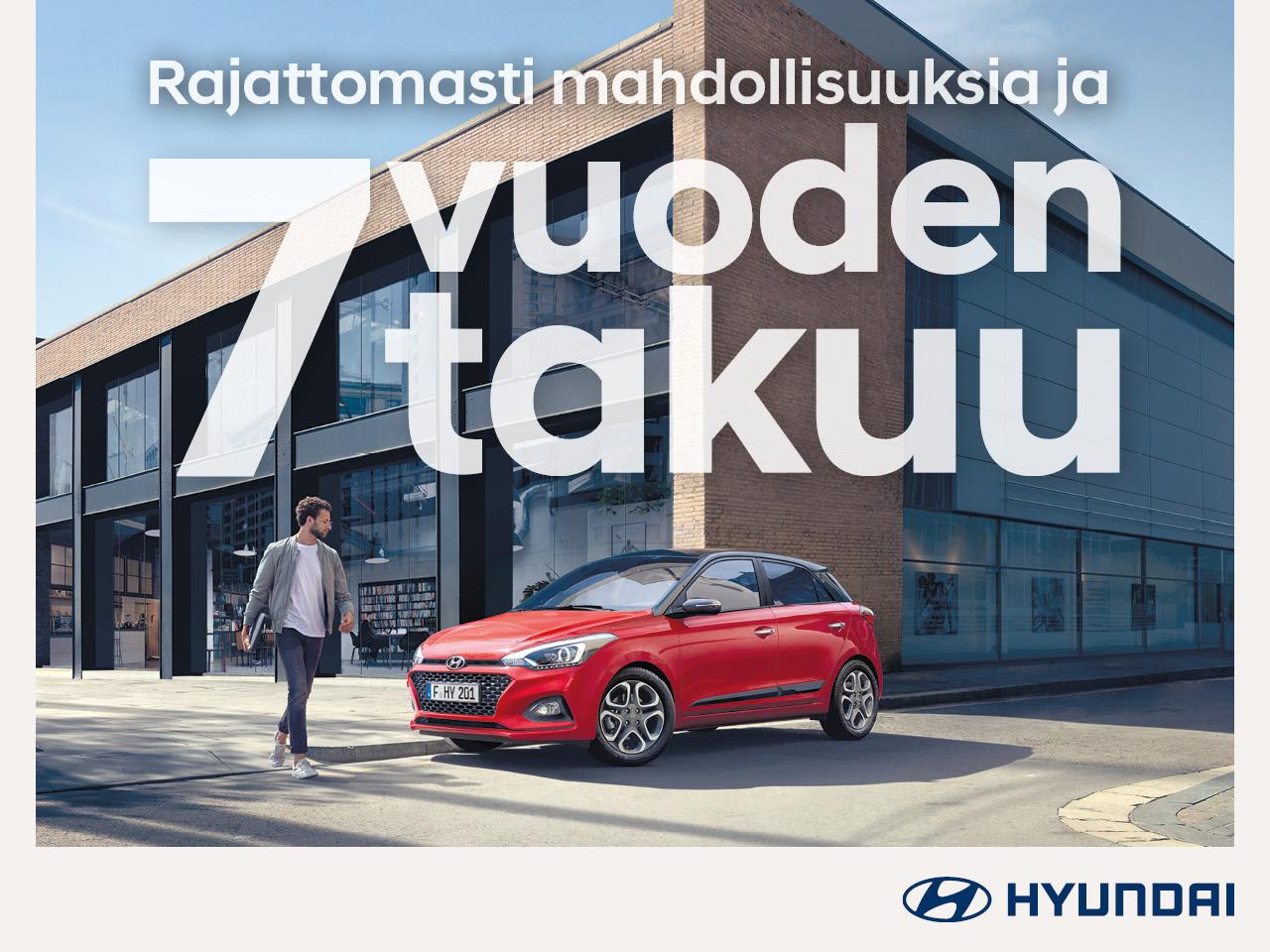 Hyundai-mallistoon 7 vuoden takuu ilman kilometrirajaa