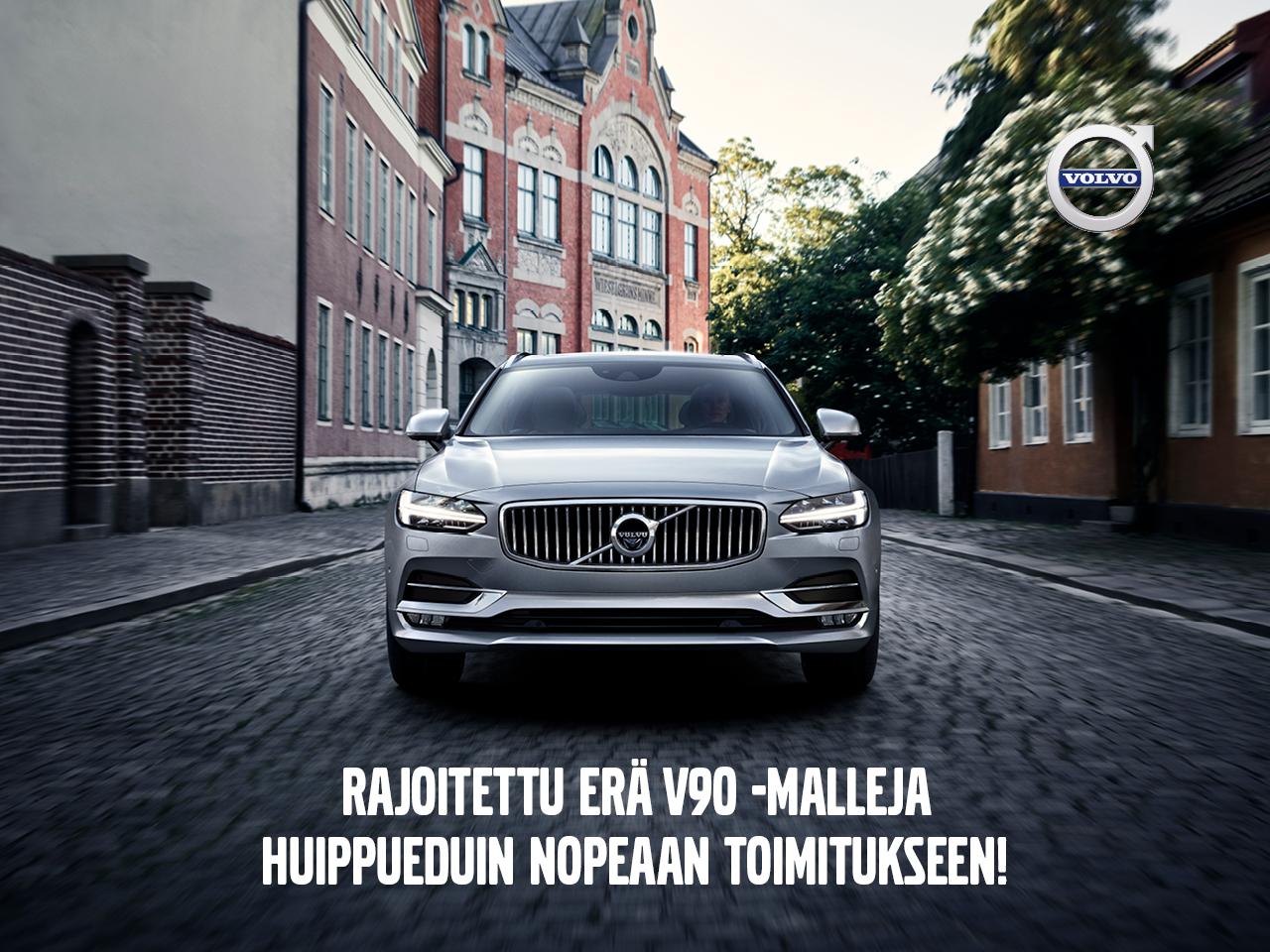 Erä Volvo V90 -malleja huippueduin nopeaan toimitukseen